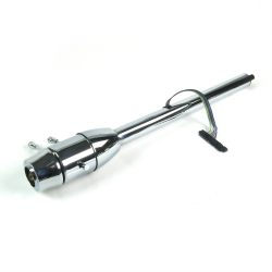 "32"" Chrome Steering Column ~ Floor Shift with 6 Hole Wheel Adapter - Part Number: HEX7AD2E"