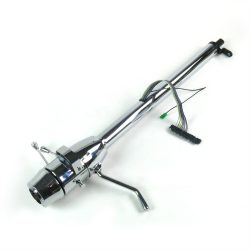 "33"" Chrome Steering Column ~ Column Shift with 6 Hole Wheel Adapter - Part Number: HEX7AD2D"