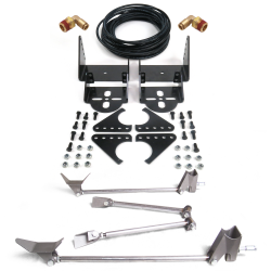 HD Rear Triangulated Four Link with Adjustable Bolt On Axle Air Ride Bracket Kit - Part Number: HEXABBTTK4