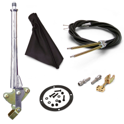 "11"" Trans Mnt Emergency Hand Brake ~ Black Boot, Black Ring and Cable Kit - Part Number: ASC7ADC5"