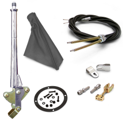 "16"" Trans Mnt E-Brake Handle~Gray Boot, Blk Ring, Cable Kit, GM Clevis' - Part Number: ASC7AE28"