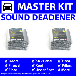 Heat & Sound Deadener for 62-84 Porsche Master Kit 11813cm2 - Part Number: ZIR7659F