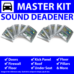 Heat & Sound Deadener for 60-87 Chevy Truck Master Kit 12825cm2 - Part Number: ZIR76598