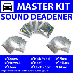 Heat & Sound Deadener for 00-06 BMW e46 Master Kit 11854cm2 - Part Number: ZIR764F9