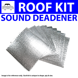 Heat & Sound Deadener for 05-08 Corvette Headliner Roof Kit 1069cm2 - Part Number: ZIR76221