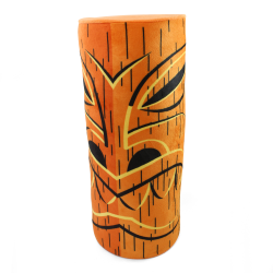 Red and Orange Ku Tiki God Throw Pillow - Part Number: VPATIKI01
