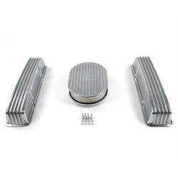 "SBC 12"" Full Oval/Tall Finned Engine Dress Up kit~w/o Breather Holes - Part Number: VPA7AC10"