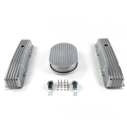 "SBC 12"" Full Oval/Tall Finned Engine Dress Up Kit - Holes No Breathers - Part Number: VPA7AC11"