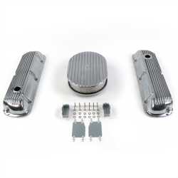 "SBF 12"" Full Oval/Finned Engine Dress Up kit~Holes No Breathers 289-351 - Part Number: VPA7AC13"