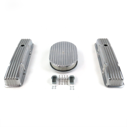 "SBC 12"" Full Oval/Short Finned Engine Dress Up kit~Holes No Breathers - Part Number: VPA7AC15"