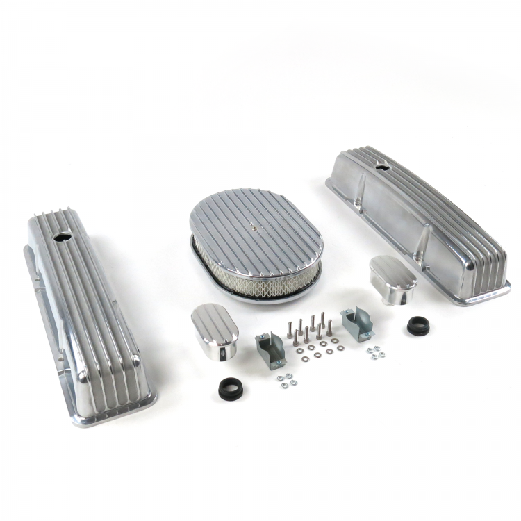 1 Pack Vintage Parts 333885 SBC 15 Deep Oval//Tall Center Bolt Engine Dress Up kit~w//Breathers No PCV