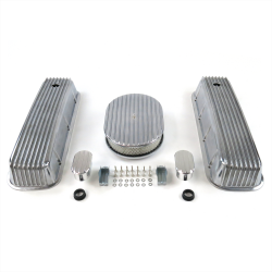 "BBC 12"" Full Oval/Finned Engine Dress Up kit~w/ Breathers (No PCV) - Part Number: VPA7AC1A"