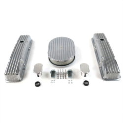 "SBC 12"" Full Oval/Short Finned Engine Dress Up kit~w/ Breathers (No PCV) - Part Number: VPA7AC1B"