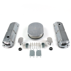 "SBF 12"" Full Oval/Finned Engine Dress Up kit~w/ Breathers (PCV) 289-351 - Part Number: VPA7AC1E"