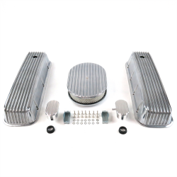 "BBC 12"" Full Oval/Finned Engine Dress Up kit~w/ Breathers (PCV) - Part Number: VPA7AC1F"