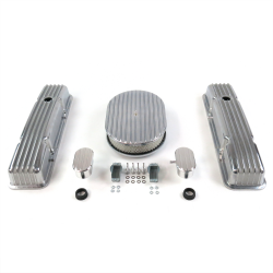 "SBC 12"" Full Oval/Short Finned Engine Dress Up kit~w/ Breathers (PCV) - Part Number: VPA7AC20"