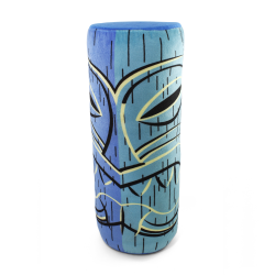 Blue Lono Tiki God Throw Pillow - Part Number: VPATIKI03