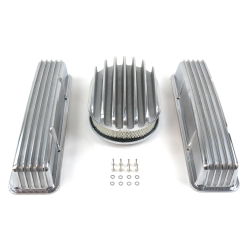 "SBC 12"" Deep Oval/Tall Finned Engine Dress Up kit~w/o Breather Holes - Part Number: VPA7AC33"