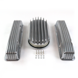"SBC 15"" Deep Oval/Tall Finned Engine Dress Up kit~w/o Breather Holes - Part Number: VPA7AC66"