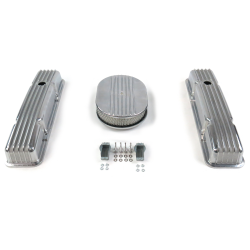 "SBC 12"" Half Oval/Tall Finned Engine Dress Up kit~Holes No Breathers - Part Number: VPA7AC22"