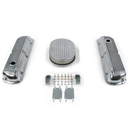 "SBF 12"" Half Oval/Finned Engine Dress Up kit~Holes No Breathers 289-351 - Part Number: VPA7AC24"