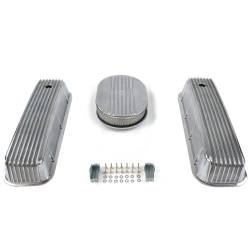 "BBC 12"" Half Oval/Finned Engine Dress Up kit~Holes No Breathers - Part Number: VPA7AC26"