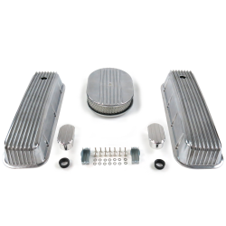 "BBC 12"" Half Oval/Finned Engine Dress Up kit~w/ Breathers (No PCV) - Part Number: VPA7AC2B"