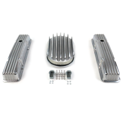 "SBC 12"" Deep Oval/Tall Finned Engine Dress Up kit~Holes No Breathers - Part Number: VPA7AC34"