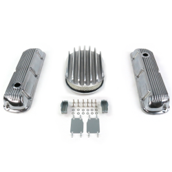 "SBF 12"" Deep Oval/Finned Engine Dress Up kit~Holes No Breathers 289-351 - Part Number: VPA7AC36"