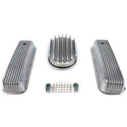 "BBC 12"" Deep Oval/Finned Engine Dress Up kit~Holes No Breathers - Part Number: VPA7AC37"