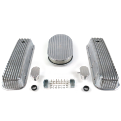 "BBC 15"" Full Oval/Finned Engine Dress Up kit~w/ Breathers (PCV) - Part Number: VPA7AC54"