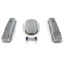 "SBC 15"" Half Oval/Tall Finned Engine Dress Up kit~Holes No Breathers - Part Number: VPA7AC57"