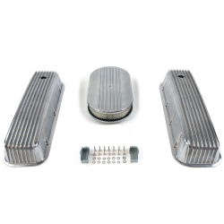 "BBC 15"" Half Oval/Finned Engine Dress Up kit~Holes No Breathers - Part Number: VPA7AC5A"