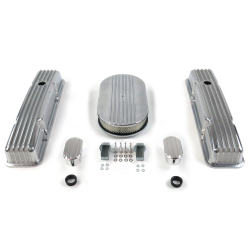 "SBC 15"" Half Oval/Short Finned Engine Dress Up kit~w/ Breathers (No PCV) - Part Number: VPA7AC60"