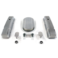 "SBC 15"" Half Oval/Tall Finned Engine Dress Up kit~w/ Breathers (PCV) - Part Number: VPA7AC61"