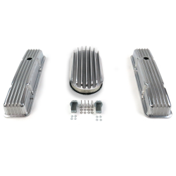 "SBC 15"" Deep Oval/Tall Finned Engine Dress Up kit~Holes No Breathers - Part Number: VPA7AC67"