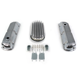 "SBF 15"" Deep Oval/Finned Engine Dress Up kit~Holes No Breathers 289-351 - Part Number: VPA7AC69"