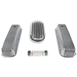 "BBC 15"" Deep Oval/Finned Engine Dress Up kit~Holes No Breathers - Part Number: VPA7AC6A"
