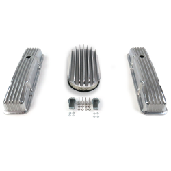"SBC 15"" Deep Oval/Short Finned Engine Dress Up kit~Holes No Breathers - Part Number: VPA7AC6B"