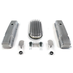 "SBC 15"" Deep Oval/Tall Finned Engine Dress Up kit~w/ Breathers (No PCV) - Part Number: VPA7AC6C"