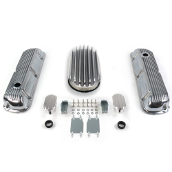 "SBF 15"" Deep Oval/Finned Engine Dress Up kit~w/ Breathers (No PCV) 289-351 - Part Number: VPA7AC6F"