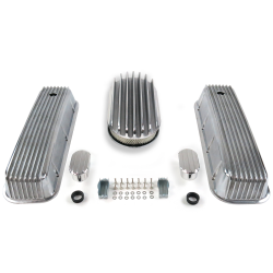 "BBC 15"" Deep Oval/Finned Engine Dress Up kit~w/ Breathers (No PCV) - Part Number: VPA7AC70"