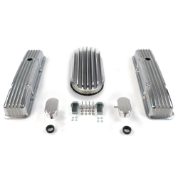 "SBC 15"" Deep Oval/Tall Finned Engine Dress Up kit~w/ Breathers (PCV) - Part Number: VPA7AC72"