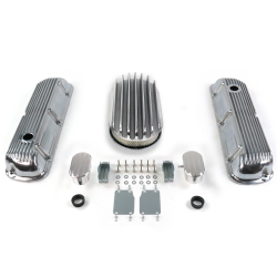 "SBF 15"" Deep Oval/Finned Engine Dress Up kit~w/ Breathers (PCV) 289-351 - Part Number: VPA7AC74"