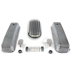 "BBC 15"" Deep Oval/Finned Engine Dress Up kit~w/ Breathers (PCV) - Part Number: VPA7AC75"