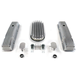 "SBC 15"" Deep Oval/Short Finned Engine Dress Up kit~w/ Breathers (PCV) - Part Number: VPA7AC76"