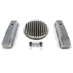 "SBC 14"" Deep Round/Tall Finned Engine Dress Up kit~Holes No Breathers - Part Number: VPA7AC78"