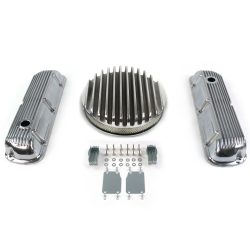 "SBF 14"" Deep Round/Finned Engine Dress Up kit~Holes No Breathers 289-351 - Part Number: VPA7AC7A"