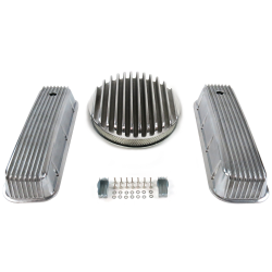 "BBC 14"" Deep Round/Finned Engine Dress Up kit~Holes No Breathers - Part Number: VPA7AC7B"