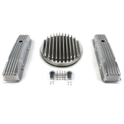 "SBC 14"" Deep Round/Short Finned Engine Dress Up kit~Holes No Breathers - Part Number: VPA7AC7C"